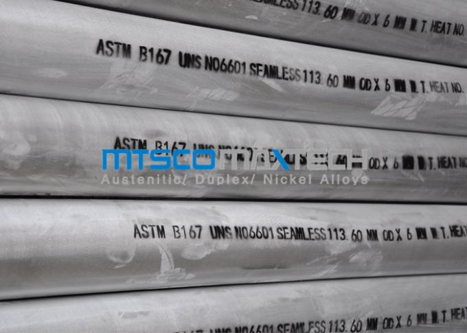 Seamless Nickel Alloy Tube Pickling Surface ASTM B167 UNS N06601 , 113.60mm x 6mm