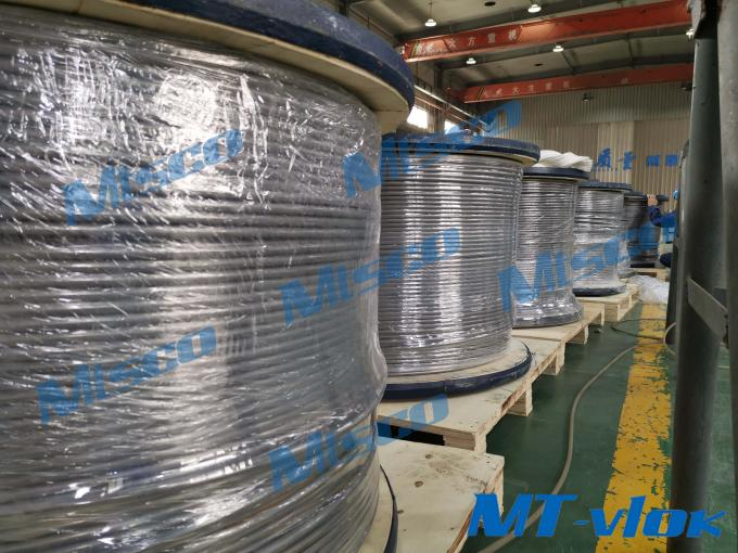 Bright Annealing Surface Nickel Alloy Tube Alloy 825 0.5'' * 0.049'' * 4200m