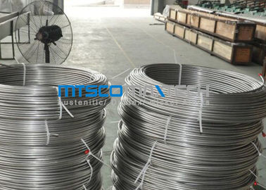 China ASTM A269 TP304 Stainless Steel Coiled Tubing Size 6.35mm x 1.65mm x 150m / coil supplier
