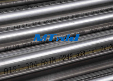 Heat Exchanger Stainless Steel Welded Tubing ASTM A270 / A249 For Papermarking