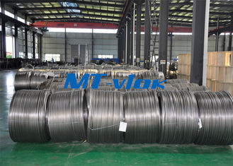 China TP304L / 1.4306 Small Diameter Stainless Steel Coiled Tubing For Cable Industry supplier