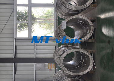 China ASTM A213 / A269 S30400 / S31600 Stainless Steel Coiled Tubing / Stainless Steel Coil Pipe factory