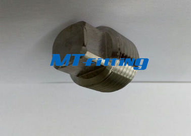 F316H 3000LBS Square Head Plug Forged Pipe Fittings Stainless Steel For Connection