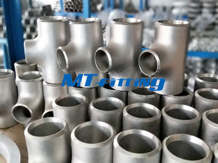 China Stainless Steel WP304L / 316L Butt Welded Flanges Pipe Fittings ASTM A815 Reducing Tee supplier