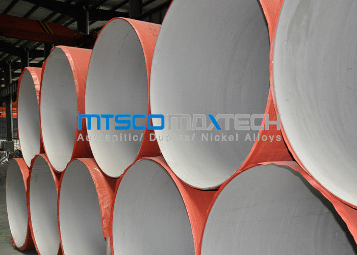 ASTM A312 Welded Pipe Plain Ends , Stainless Steel Thin Wall Pipe With RT supplier