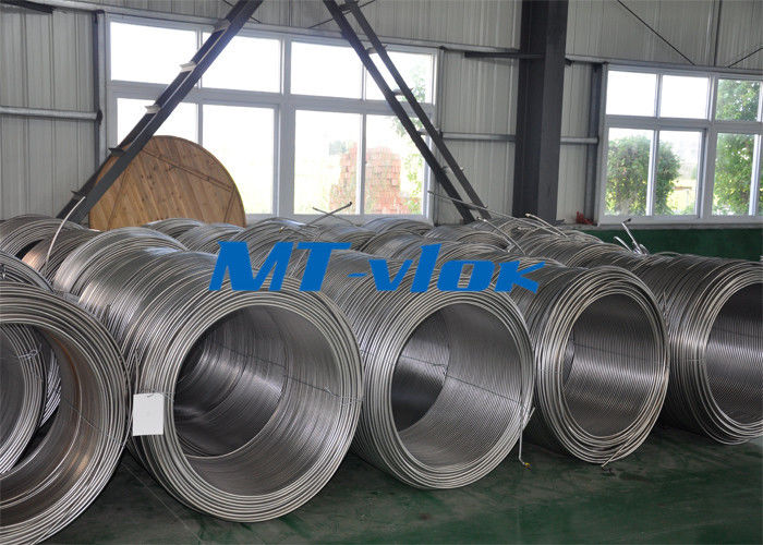 ISO 6.35mm TP304L Stainless Steel Coiled Tubing ASTM A213 For Control Line supplier