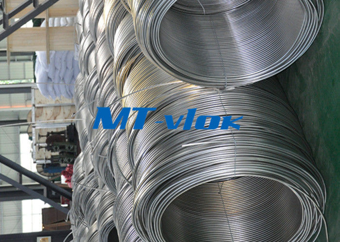 China 3 / 8 Inch ASTM A269 Small Diameter Stainless Steel Welded Super Long Coiled Steel Tubing factory