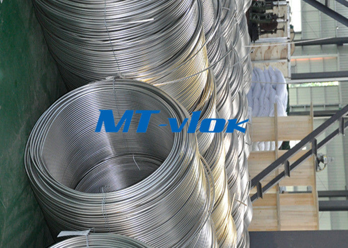 China TP316 / 316L Stainless Steel Welded Super Long Coiled Tube For Petrochemical Industry factory