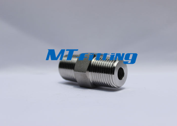 ASTM A182 Forged High Pressure Pipe Fittings F304L / 316L Threaded Hex Nipple supplier