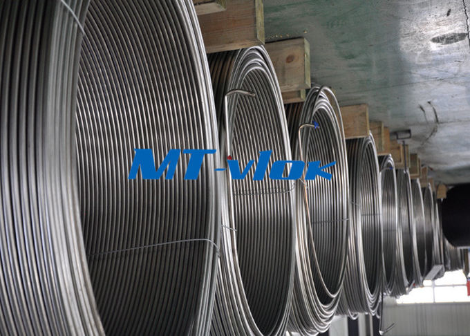 3 / 8 Inch ASTM A269 Small Diameter Stainless Steel Welded Super Long Coiled Steel Tubing