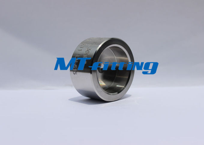 F316 / 316L 3000LBS Stainless Steel Half Coupling / Cap Forged Fittings For Oil Industry