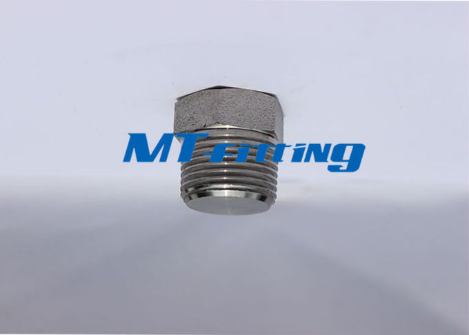 ASTM A182 F304 / 304L / 304H Hex Head Plug Forged High Pressure Pipe Fittings